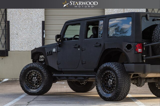 Pre-Owned 2017 Jeep Wrangler Unlimited SATIN BLACK FINISH 35