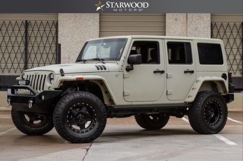 Pre-Owned 2015 CUSTOM Jeep Wrangler Unlimited WHITE SAND FINISH TERAFLEX LIFT KIT